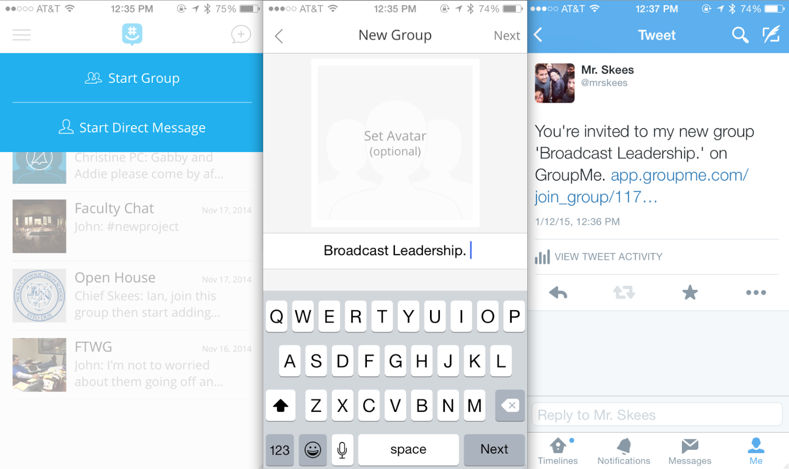 Technology: Apps for Group Work Collaboration (GroupMe