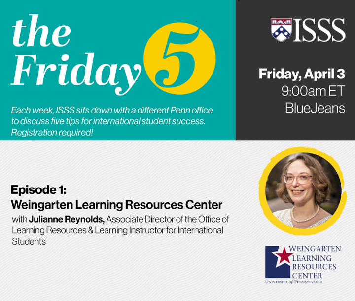 Advertisement for virtual session with ISSS on Friday, April 3, 2020